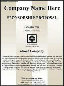 tv commercial proposal template - sponsorship proposal template cyberuse