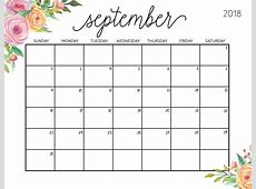 Printable Google Calendar September 2018 – Printable