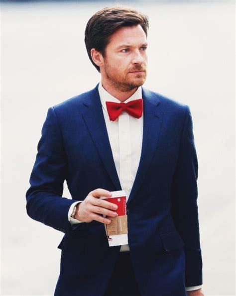 Red bowtie navy blue suit groomu0026#39;s outfit | Grooms + Groomsmen | Pinterest | Blue suit groom ...