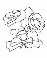 Coloring Roses Pages Flower Rose Hearts Bow Amish Printable Getcolorings Colorings sketch template