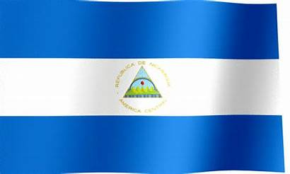 Nicaragua Flag Animated Waving Flags National Arms