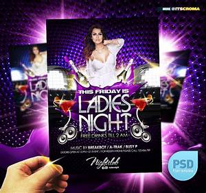 PSD Night Club Party Flyer Ladies Night by itscroma on ...