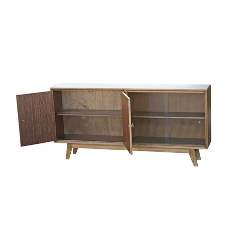 Mid Century Cabinet Ebay by 60 Quot Vintage Mid Century Modern Wood Glass Display Cabinet