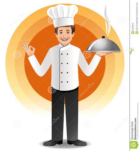 site de cuisine de chef chef avec cuire la cuisine à la vapeur illustration