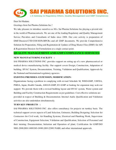 sai pharma solutions regulatory  quality management