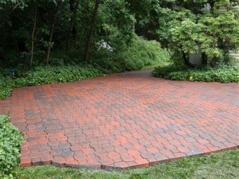 how to build a paver patio how to build a brick patio hgtv