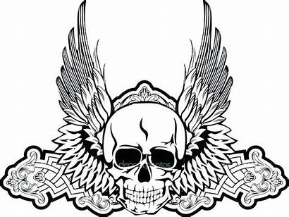 Coloring Pages Scary Angel Dark Skull Getcolorings