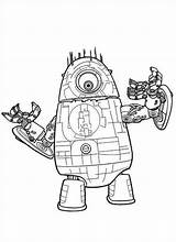 Coloring Aliens Monsters Vs Pages Robot Eyed Popular sketch template