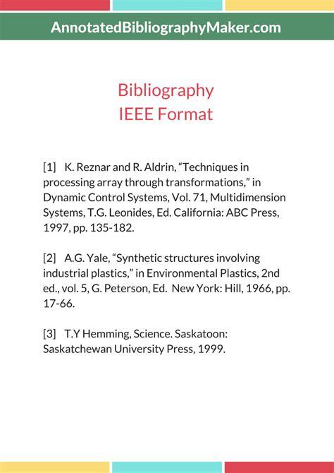 ieee bibliography maker