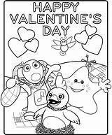 Valentines Printable Cards Card Happy Coloring sketch template