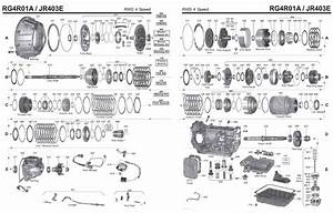 Transmission Repair Manuals Jr403e  Rg4r01a  Re4r03a