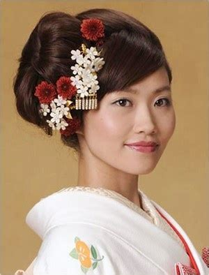 traditional japanese bridal hair images
