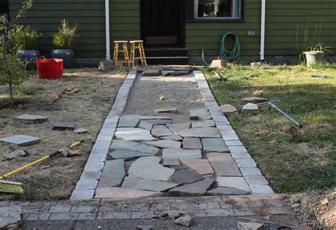 flagstone sidewalk better remade flagstone walkway better remade