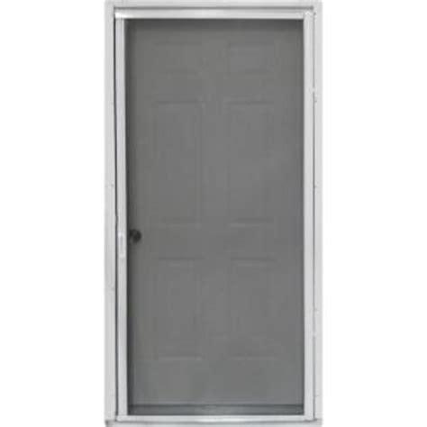 36 in x 80 in pr900 white retractable screen door