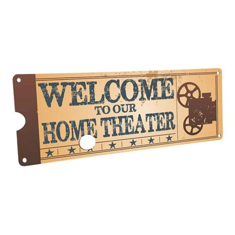 """Buy home decoration products online in india at best prices. Home Theater Movie Projector 4""""x12"""" Metal Sign, Wall Décor ..."""