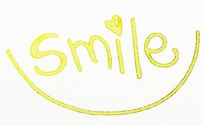 Smile Happy Text Smiling Clipart Power Yellow