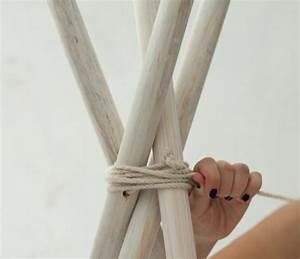 Fabriquer Tipi Enfant : diy enrouler la corde autour du sommet de la tente tuto tipi pour enfant achever la ~ Voncanada.com Idées de Décoration
