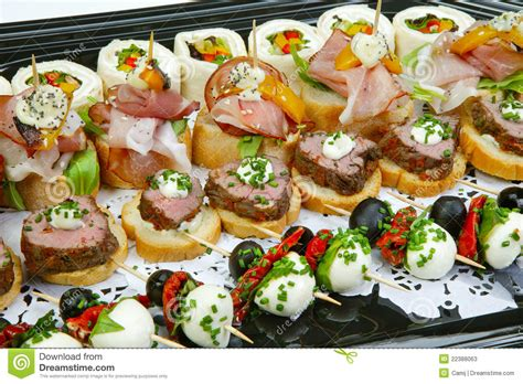 fresh canapes canapes stock photos image 22388063