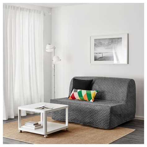 Lycksele Chair Bed by Lycksele L 214 V 197 S Two Seat Sofa Bed Vallarum Grey Ikea