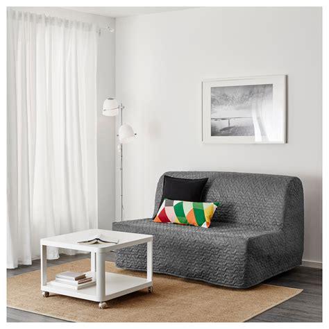 lycksele l 214 v 197 s two seat sofa bed vallarum grey ikea