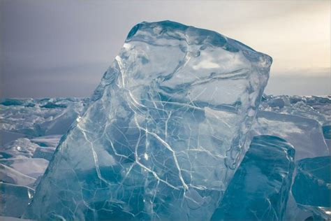 crystal clear ice  lake baikal  pictures strange