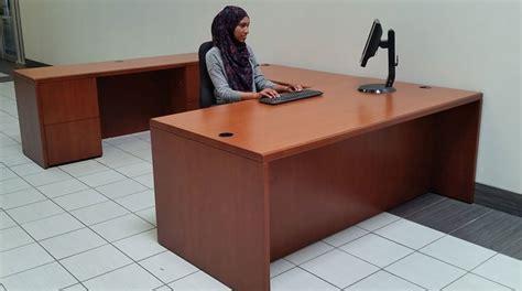 haworth credenza used haworth desk with credenza and bookcase set toronto gta