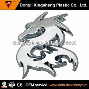 3d Dragon Chrome Motorcycle Sticker Design - Buy ...