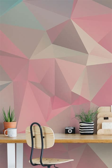 tips  styling geometric wallpaper geometric wall