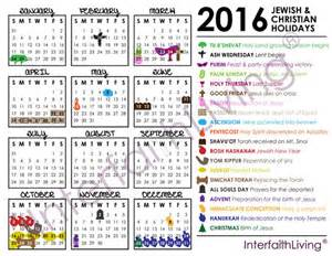 2016 christian holidays calendar fridge magnet