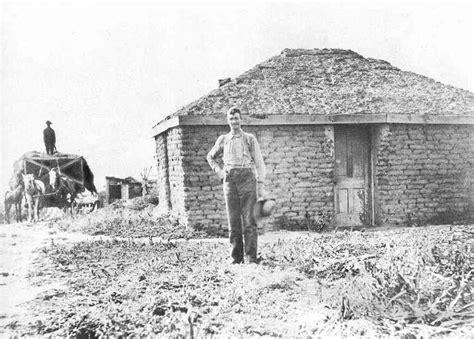homestead farmer sod house 1800s pioneer homes sod