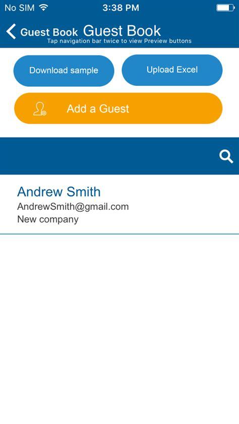check  guest book app app