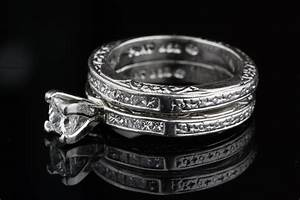pre owned diamond and platinum wedding ring set With preowned wedding ring sets