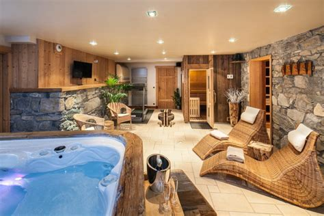 chambre chalet de luxe instant détente rental luxury chalet with spa and