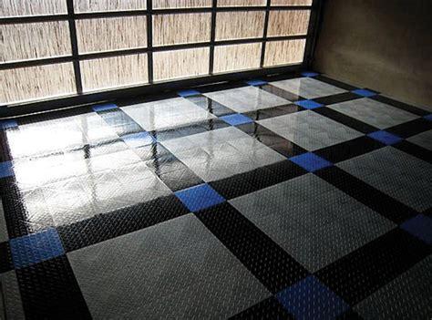 racedeck tuffshield high gloss modular garage flooring