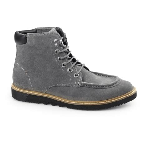 kickers moccasin suede kickers kwamie boot mens suede moccasin boot grey buy at