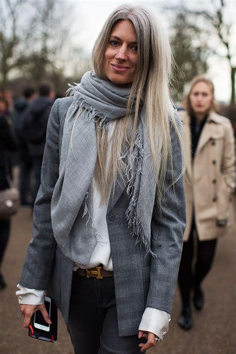 Sarah Harris Gray Hair Long Beautiful