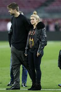 Shakira at Camp Nou Stadium With Her Husband Gerard Pique ...