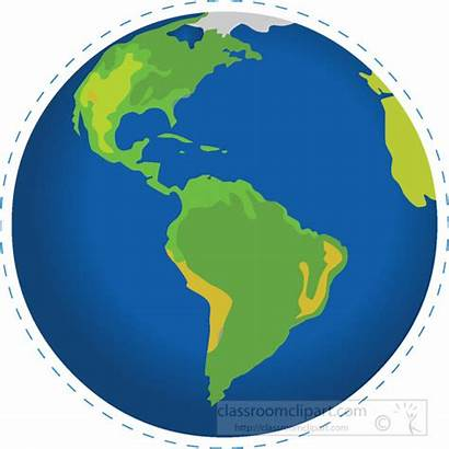 Earth Globe America Clipart Geography North South