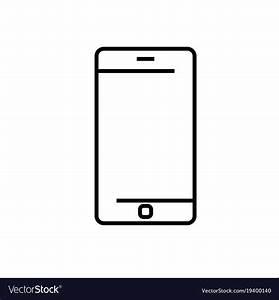 Smartphone icon Royalty Free Vector Image - VectorStock
