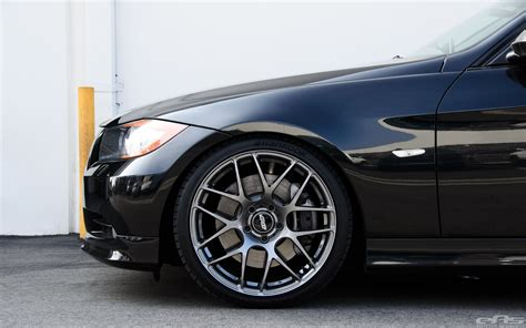 Bmw E90 Wheels by Jet Black Bmw E90 335i Looks Clean With Aftermarket Wheels