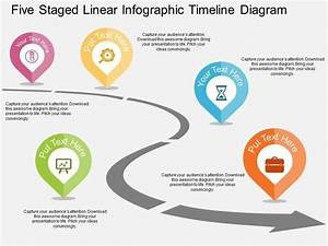 Five Staged Linear Infographic Timeline Diagram Flat Powerpoint Design Slide01 Jpg  960 U00d7720