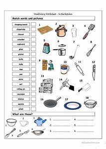 104 FREE ESL Kitchen Worksheets
