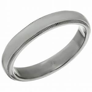 Tiffany And Co Platinum Milgrain Men39s Wedding Band Ring