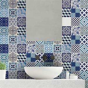 Art Et Carrelage : 15 stickers carrelages azulejos vintage bleu d 39 azure art ~ Melissatoandfro.com Idées de Décoration