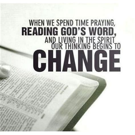 When We Spend Time Praying, Reading ***'s Word And Living