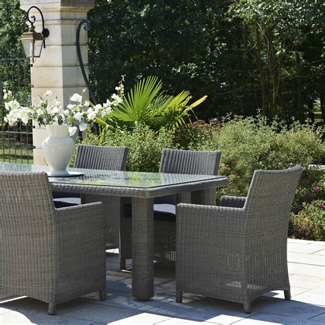 salon de jardin haussman r 233 sine tress 233 e gris chin 233 1 table