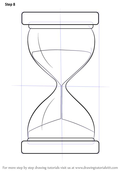 learn   draw  hourglass everyday objects step