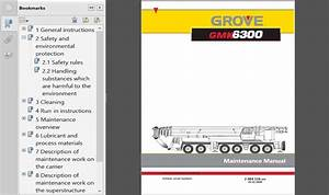 Grove Mobile Cranes Gmk Series Maintenance Manual