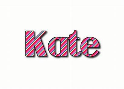 Kate Cate Logos Text Flamingtext Stripes