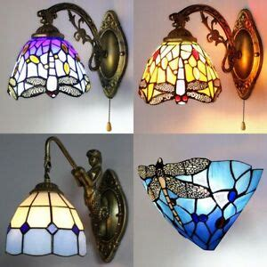 Stained Glass Bathroom Light Fixtures by Aroma Style Dragonfly Stained Glass Wall Sconce